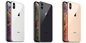 iPhone XS Max i tre olika färger